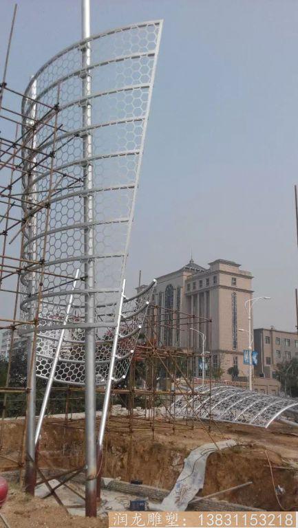 广场不锈钢景观雕塑1