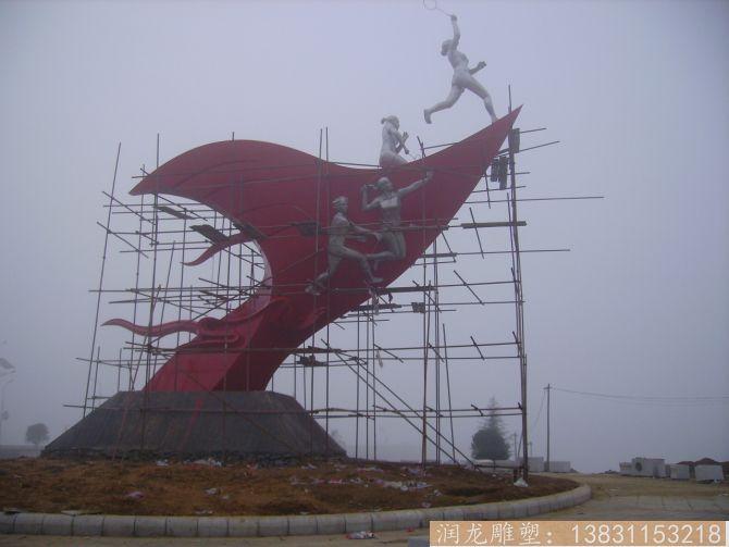 广场不锈钢体育运动雕塑
