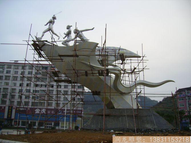 广场不锈钢体育运动雕塑1